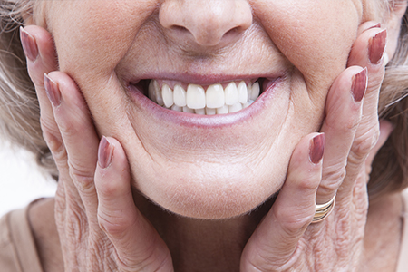 Closeup of woman's smile